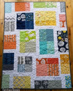 Scrappy Tiles baby quilt 1 | Flickr - Photo Sharing!