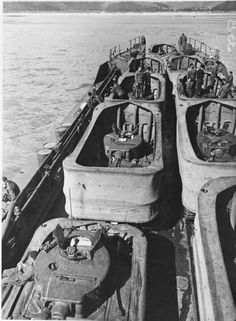 Valentine III DD tanks - when these tanks did get ashore (many were launched too far out on D Day) they helped the troops immensely and played a key role in destroying bunkers and MG posts.