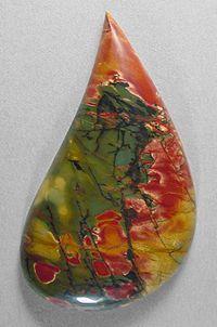 cherrycreek jasper cab Silverhawk's designer gemstones.