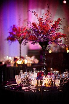 Wedding, Reception, Red, Purple, Inspiration, Board