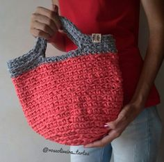 Crochet Handbags, Crochet Bags, My Bags, Straw Bag, Crocheting, Instagram, Fashion, Tela, Crocheted Purses