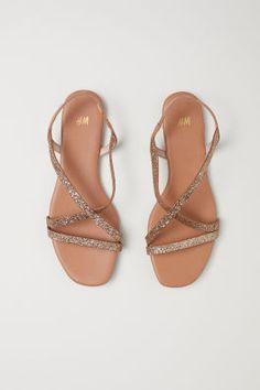 Sandals - Gold-coloured glitter - Ladies | H&M 2