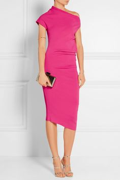 Fuchsia stretch-jersey Slips on 76% viscose, 24% polyester Dry clean  Designer color: Peony  Made in Italy