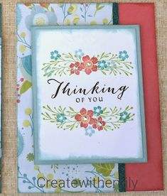 Flower Bough Card • CTMH.      I like this layout