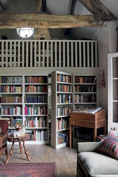 30+ DIY Home Libraries with Rustic Design