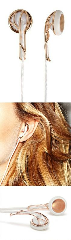 Jewelry-inspired ear bud headphones Love it My Beauty, Vogue, Girly Things, Fashion Forward, Cool Stuff, Stuff To Buy, Great Gifts, Headphones, Mp4 Player