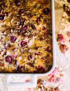 Raspberry Pecan Oat Bake via A House in the Hills