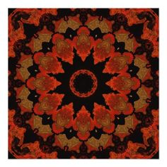 Red And Black Radiating Star