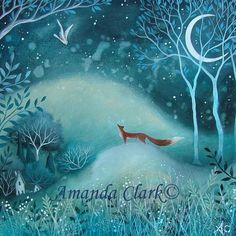 amanda clark artist | By the Blue Moon by Amanda Clark 2013.