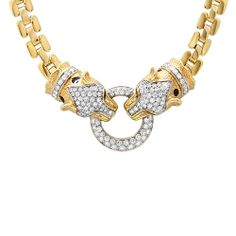 3.04cts Diamond Leopard Necklace
