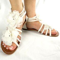 Flower wedding sandals