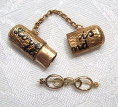 Victorian LOVE IS BLIND Charm or Pendant - OPENS with Glasses...