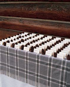 Cedar Wedding ProgramsChocolate DessertsSeasonal StationeryPinecone Escort CardsWedding Gifts