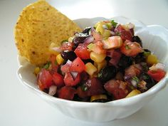 Yummy homemade Pico de Gallo. Awesome. Never realized it was so easy!
