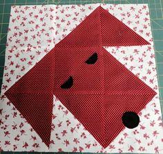 "Linda Marsee Dingley 12 1/2 block- 4 squares ( of 2 colors, 8  Total) 4 7/8"", 1 square (of each color )4 1/2"" 9 1/2"" block- 4 square ( of 2 colors, 8 total) 3 7/8"", 1 square (of each color) 3 1/2"" 6 1/2"" block- 4 squares ( of 2 colors, 8 Total)2 7/8"", 1 square (of each color) 2 1/2"""