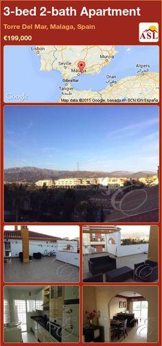 3-bed 2-bath Apartment in Torre Del Mar, Malaga, Spain ►€199,000 #PropertyForSaleInSpain