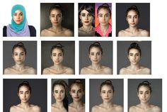 JUSTiBeauty Blog: Das gleiche Gesicht 25x anders: Es gibt doch kein einheitliches Schönheitsideal auf der Welt / Esther Honig Experiment #EstherHonig