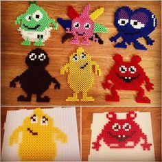 Pearl Beads Pattern, Hama Beads Patterns, Beading Patterns, Fuse Beads, Perler Beads, Diy For Kids, Crafts For Kids, Hama Art, Yarn Trees