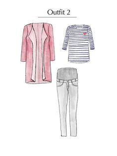 Outfitidee! Frühjahres - Capsule Wardrobe für Schwangere nähen| Rapantinchen Capsule Wardrobe, Shirts, Tops, Fashion, Pregnancy, Reach In Closet, Sewing Patterns, Outfit Ideas, Blouse