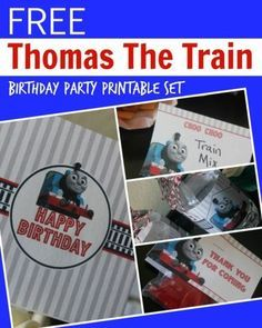 Thomas the Train Engine Birthday Party Printable Set! Fun Thomas Party Ideas and Decorations!