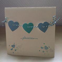Carte de félicitations cœurs verts pour un mariage : Cartes par sab-and-paper