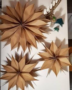 Paper Bag Crafts, Book Folding, Table Lamp, Projects, Fri, Instagram, Christmas Ideas, Home Decor, Paper Crafts