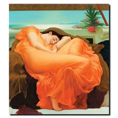 Flaming June by Frederick Leighton Painting Print on Wrapped Canvas