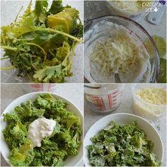 Aprende a preparar la versión saludable de la ensalada Cesar, reemplazando la lechuga con kale y el aderezo con un aderezo cesar casero fácil de preparar.