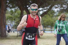 La Synchro Noir Vert en plein pendant l'épreuve de course de l'IronMedoc