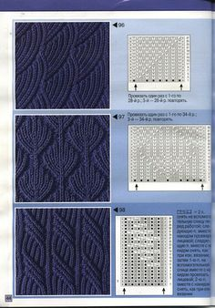 Knit cable patterns