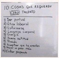 """10 cosas que requieren """"cero"""" talento"""