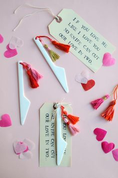 Great Valentines Knife   Tassel DIY - Oh Happy Day! - Helle knives