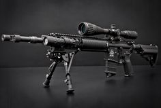 Mk12 Mod1 - long range semi-automatic sniper rifle used by US army Special Forces and SEAL teams in Iraq and Afghanistan