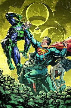 Superman, Lex. Amazo Virus. Justice League #36.