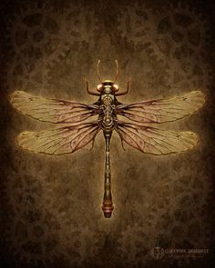 Winged Things - ​Dragonfly Art, Butterfly Art & Steampunk Insect Bug Art by Brigid Ashwood Dragonfly Art, Dragonfly Tattoo, Dragonfly Quotes, Dragonfly Wallpaper, Rik Lee, Steampunk Kunst, Steampunk Artwork, Top Photos, Dieselpunk
