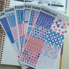 Watercolour Hearts Full Planner Sticker Kit, Pink, Blue, Red, Green, Purple, Vertical Erin Condren Stickers, Happy Planner