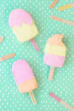 Creative Birthday Cakes, Creative Cakes, Yummy Treats, Delicious Desserts, Sweet Treats, Dessert Recipes, Ice Cream Party, Cake Pops, Brownie Desserts