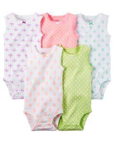 5-Pack Sleeveless Bodysuits