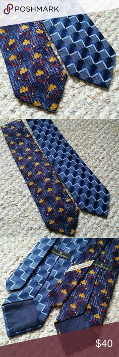 """Men's Ermenegildo Zegna Silk Ties Very nice neckties by Ermenegildo Zegna. One print is flowers and the other has arrows. 4"""" by 57.5"""". Both ties included. Thanks for looking!   Smoke free home! Ermenegildo Zegna Accessories Ties"""