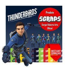 Thunderbirds Are Go Cliparts and Digital by sergiorobertoarts