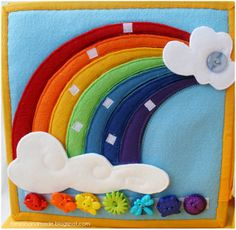 nice rainbow with buttons at bottom Tannins are handmade: book for a little girl Calista