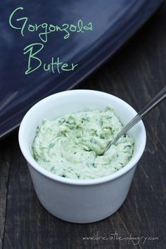 Gorgonzola Butter - the perfect low carb condiment for any grilled meats or veggies!