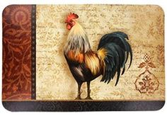 Great for the outside breakfast table.  Rooster placemats.
