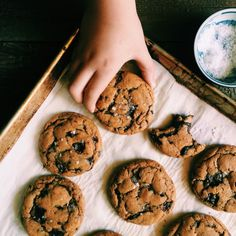 Brown Butter Chocolate Chip Cookies | Recipe via DisplacedHousewife | *This version with dark muscovado sugar (can use regular brown sugar as well)