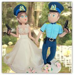 figurina pentru tort politisti