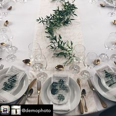 We are so proud of how this all came together! Such talent from all those involved. **Repost from @demophoto using @RepostRegramApp - Ready for dinner!!!!! Now I just need my friends to show up:) I am absolutely blown away with how beautiful this turned out. A massive thanks to @lux_events for creating this vision with me. To @paperocelot for the beautiful menus and runner and shells. To @michellesflowers for your always appreciated green thumb, @handyspecialevents for the lovely set up…