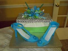 Deanna's surprise!! She loves shoes so I surprised her with this cake! Love this girl! ~2011