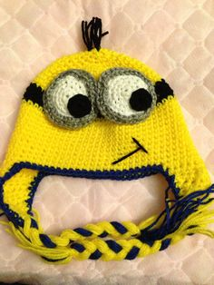 Minion Hat by ChiCrochetCreations on Etsy  Crochet  Kids Handmade