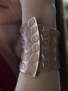 Copper Spotted Cuff Bracelet