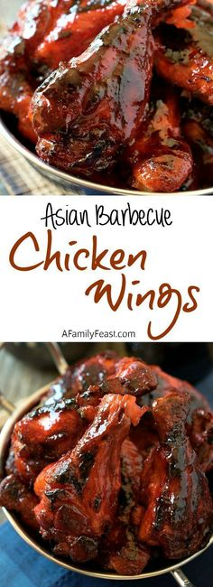 Asian Barbecue Chicken Wings – These easy wings are better than Chinese takeout!… Asian Barbecue Chicken Wings – These easy wings are better than Chinese takeout! Asian Barbecue Chicken Wings – These easy wings are better than Chinese takeout! Chinese Chicken Recipes, Easy Chinese Recipes, Chicken Wing Recipes, Asian Recipes, Healthy Recipes, Chinese Desserts, Healthy Food, Chicken Wing Sauces, Chicken Meals